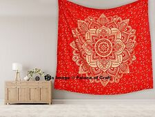 Indian Ombre Mandala Bedspread Decor Tapestry Wall Hanging Queen Size Hippie Art