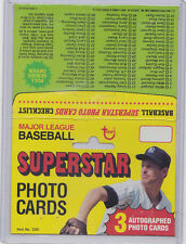 1980 TOPPS BASEBALL SUPERSTAR PHOTO CARDS CHECKLIST LOT OF 2 - TOMMY JOHN