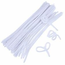500 White Chenille Stems Sticks Pipe Cleaners Bulk Craft Buy Free Post