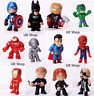12pc/Set Marvel Avengers DC Comics Figures Cake Toppers Hulk Kids Toy Gift 2020