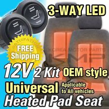 Car Interior Heated Pad 2Seat 3way LED Switch Hot Heater Diy Kit for CHEVY Car