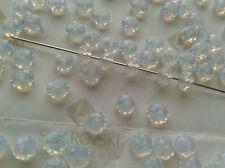 36 Swarovski #5040 6mm Crystal White Opal Briolette Rondelle Spacer Beads