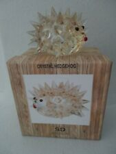 Simon Designs Crystal Amber Hedgehog Paperweight Sd3928 New In Box