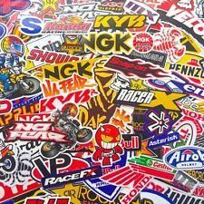 120 Mixed Random Decal Stickers Motocross Motorcycle Car ATV Racing Bike Helmet