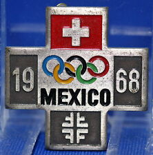 1968 Olympic Games Mexico Original NOC SWISS Olympic Team Fundraising PIN BADGE