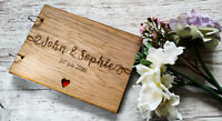 Personalised Wooden Wedding Couple Guest Book Christening Scrapbook Photo Rustic