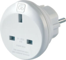 Go Travel Earthed UK to European  Adaptor-UK to EU Converter-Adapter (Ref 524)