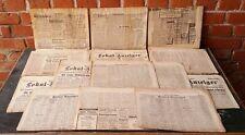 alte Zeitungen Zeitungsabschnitte Tageblatt Berliner Lokaler Anzeiger Jugendstil