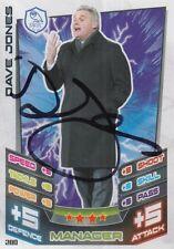 Dave Jones mano firmado Sheffield Wednesday 12/13 Match Attax Tarjeta 2012/2013.