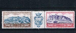 San Marino. 1958 Airmail strip, unmounted mint.