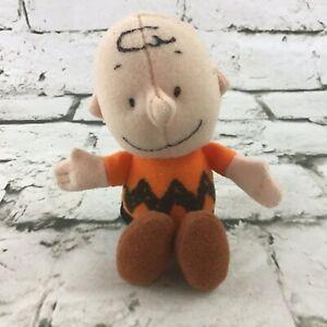 "Peanuts Charlie Brown Mini 5"" Plush Wendys Kids Meal Prize Stuffed Toy"