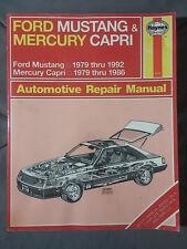 HAYNES REPAIR MANUAL MUSTANG CAPRI 1979-1992 FORD MERCURY