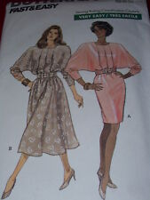 Butterick #6668-Ladies Pretty Couture Rated Blouson Bodice Dress Pattern 12-16uc