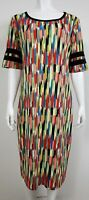 Lularoe Womens Julia Dress Size 2XL Plus Short Sleeve Stretch Multicolored Party