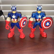 "PLAYSKOOL SUPER HERO ADVENTURES CAPTAIN AMERICA & WALMART PACK EXCLUSIVE 5"""