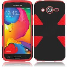 T-Mobile Samsung Galaxy Avant IMPACT TUFF HYBRID Case Phone Cover + Screen Guard
