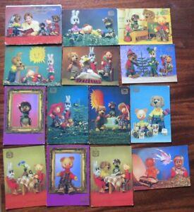 14 Russian Child Card SET Animal Bird PC Hello friends Good night kid Toy Doll