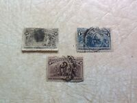 RARE SET 1892 COLUMBUS DISCOVERS AMERICA 10 2 & 1 CENT STAMP