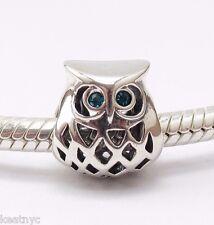 MY SWEET PET ANIMAL OWL CHARM Bead Sterling Silver .925 4 European Bracelets 963