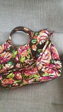 Vera Bradley English Rose Brown Tote Crossbody NWOT Retired Print