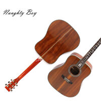 Handmade Acoustic Guitar Solid Koa Top Abalone Inlay Fast Shipping With Hardcase