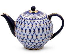 20 fl oz Brewing Teapot. Imperial Lomonosov Porcelain Cobalt Net Tea Pot