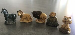 Vintage 5 x Wade Whimsies, early pieces, miniatures