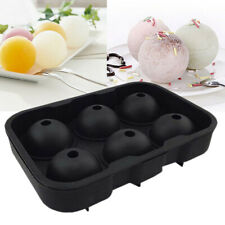 6 Sphere Round Ice Ball Maker Tray Mould Silicone Mold Cube Bar Whiskey Bar