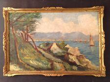 Peinture Post-Impressionniste Marine Baie d'Agay ? Huile goût René Seyssaud