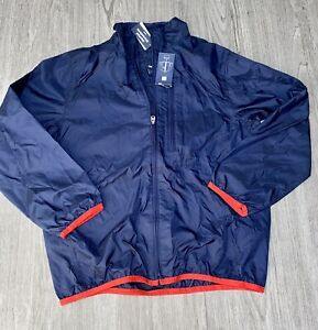Gap Kids Water Repellent Navy Blue Jacket with Red Trim Size 10 Large Gap Jacket