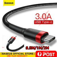 Baseus USB to Type C USB-C Cable Quick Charger Data Cord for Samsung S20 Huawei