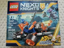 NIB LEGO Nexo Knights King's Guard Artillery with 2 minifigures, 70347 RETIRED