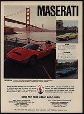 1978 MASERATI MERAK SS / BORA / KHAMSIN Sports Cars - Golden Gate - VINTAGE AD