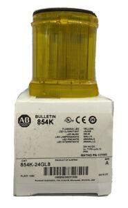 Allen-Bradley Bulletin 854K-24GL8 Series A Yellow Flashing LED NIB