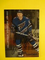 1999-2000 IN THE GAME SERGEI GONCHAR MILLENIUM SIGNATURE SERIES AUTOGRAPHED CARD
