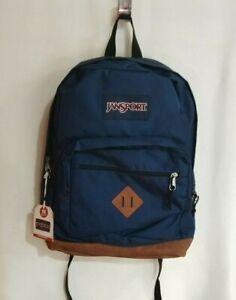 JanSport City View Navy Unisex Backpack - JS0A3P3U003 NWT