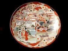 Grand plat KUTANI époque Meiji en porcelaine du Japon décor corail