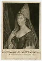 Antique Print-PORTRAIT-BARBARA VILLIERS-DUCHESS OF CLEVELAND-Lely-Bocquet-c.1805