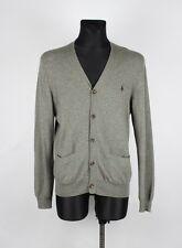 Ralph Lauren Cardigan Men Merino Wool Sweater Size M, Genuine
