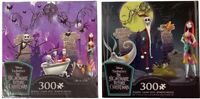 """Disney The Nightmare Before Christmas 300 Piece Puzzle Lot Of 2w/ Poster 24""""x18"""""""