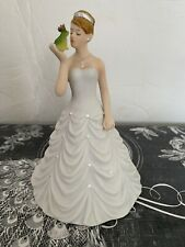 Princess Bride Kissing Frog Cake Topper Hand Painted Porcelain 5 1/2 Inches Tall