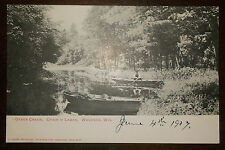 Postcard Antique UDB - Otter Creek Chain O' Lakes Waupaca Wisconsin - 1907