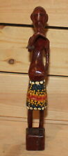 Vintage African hand carving wood man figurine