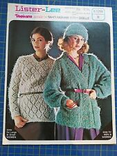 Lister-Lee His & Her Sweater Jacket & Womens Hat & Sweater Knitting Pattern 1298