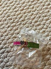 NWT Vera Bradley Heart Bangle in Canterberry Magenta With Silver-Toned Accents