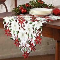 Weihnachten Bestickte Tischläufer Leaf Tischwäsche Home Decoration 38 x 175cm
