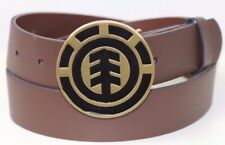 Men's Element Icon Leather Belt & Removable Buckle. Size M - L. NWT. RRP $59.99.