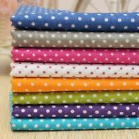 7x KINGSO 50x50CM Cotton Fabric Assorted Pre-Cut Fat Quarters Bundle DIY