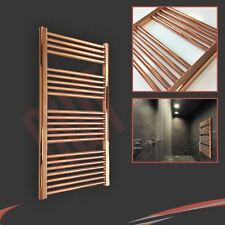 600mm(w) x 1200mm(h) Designer Straight Copper Heated Towel Rail (2330 BTUs)