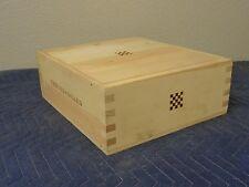 "Checker Board Winery Napa Wine Crate holds 3 btt size 5""x12""x14"""